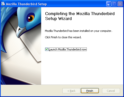 Thunderbird XP installed